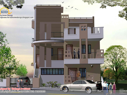 3-Story House Plans Small 3 Story House Plans