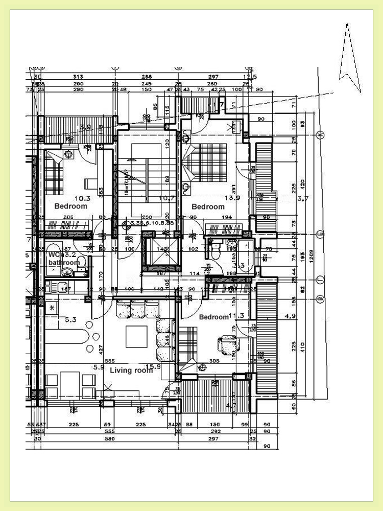 Residential architectural floor plan modern residential for Residential floor plans