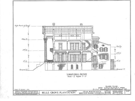Belle Grove Plantation Louisiana Floor Plans Louisiana Belle Grove Plantation Floor Plans