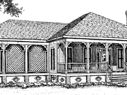 Southern country cottage house plans southern style for Classic cottage house plans