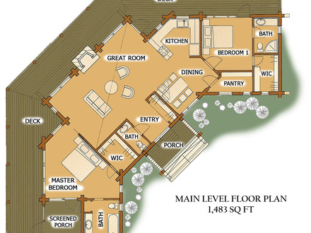 luxury cabin floor plans open floor plans one level homes single story open floor 20472