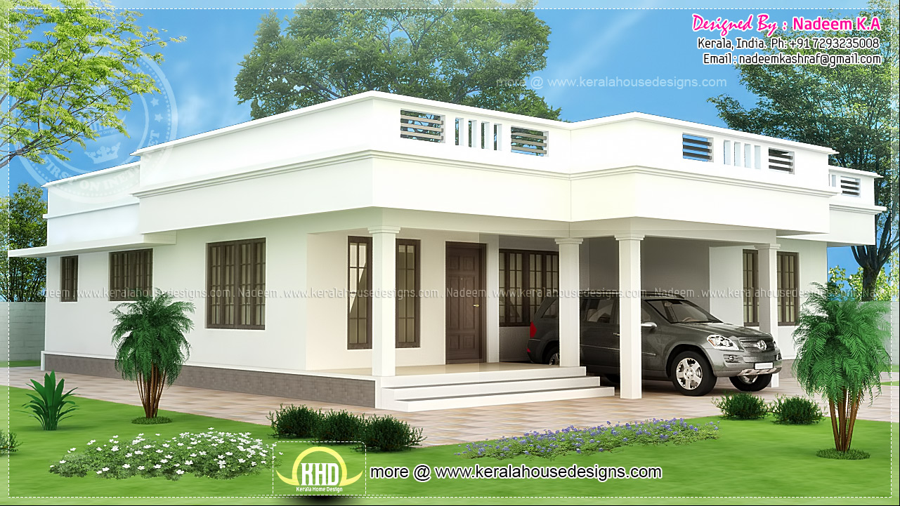 Shed roof single story flat roof house designs flat roof for One story shed roof house plans