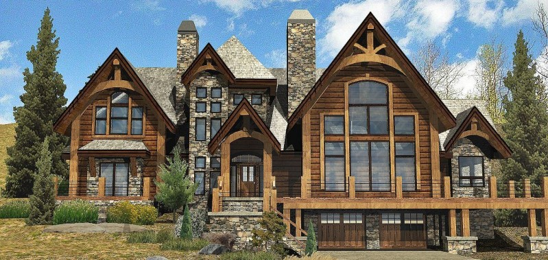 Rocky mountain log homes manufacturer country log cabin for Colorado mountain home plans