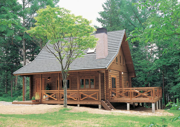 Log cabin kit homes pre built log cabins can you build a for Homes built for 100k
