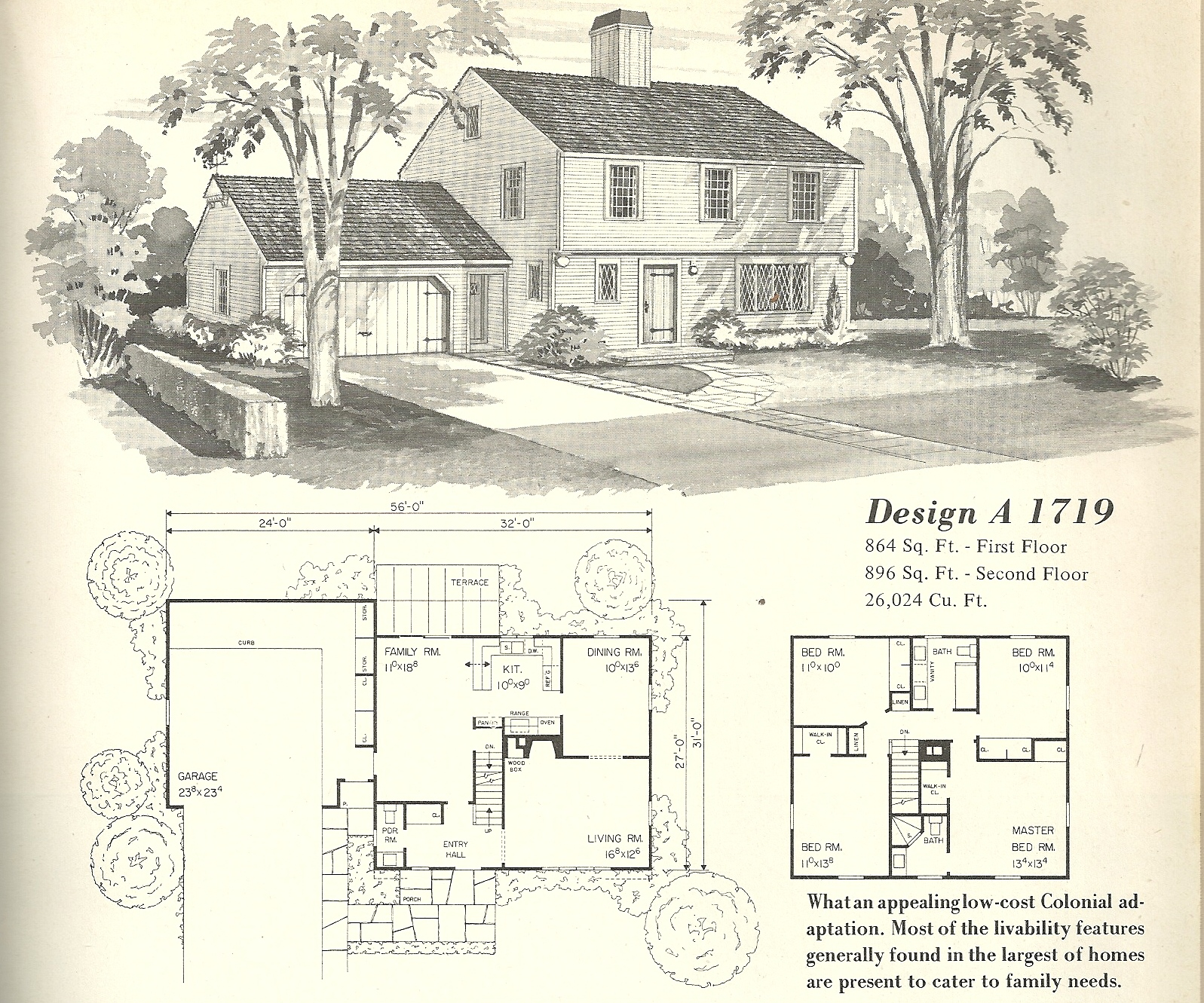 Vintage house plans 1950s vintage house plans farmhouses for Vintage ranch house plans
