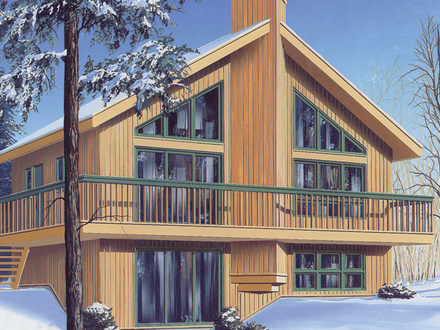 Small lake cabin house plans small lake inside cabin for Swiss chalet style house plans