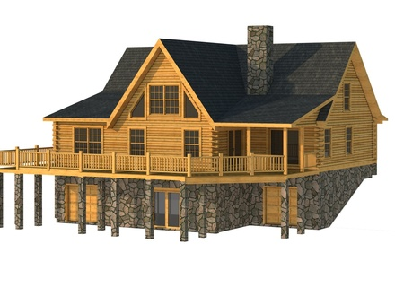 Modular log cabin kits modular log cabin floor plans log for One story log house plans