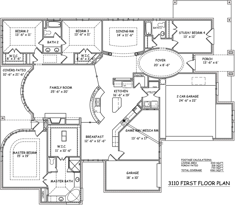 I Like This One Story House Simple And Open Floor Plan: Single Story Open Floor Plans Single Story Open Floor