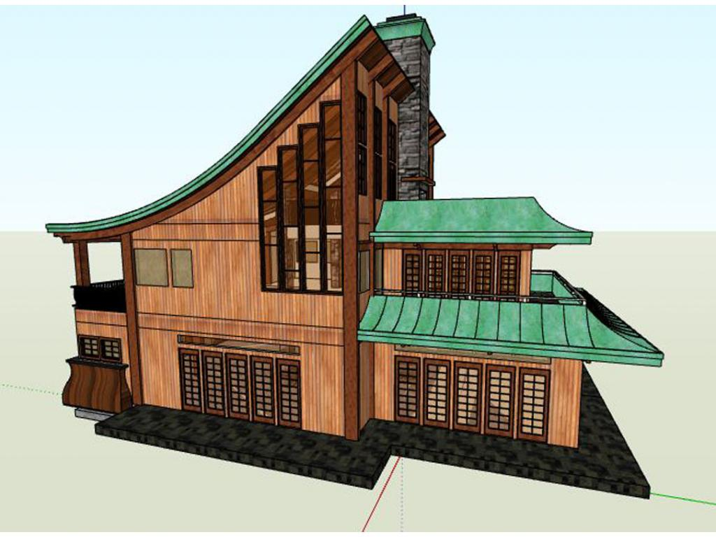 Japanese traditional house plans asian house plan arato for Asian house plans
