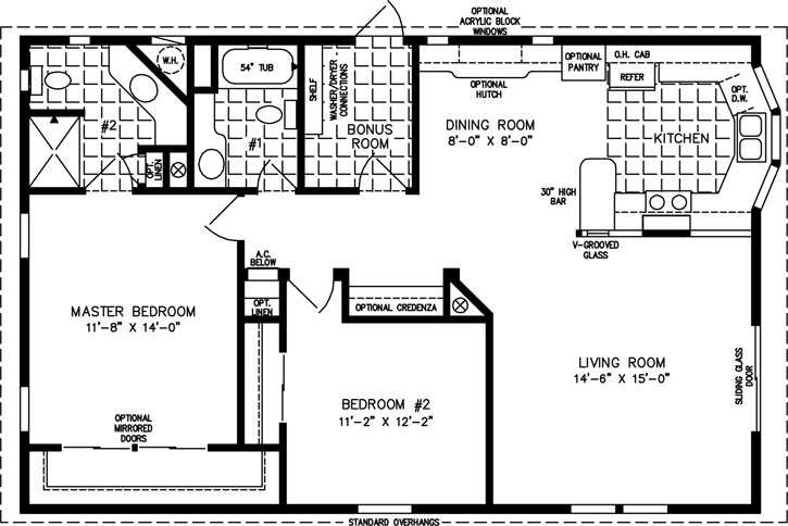 1000 sq ft home floor plans 1000 square foot modular home 1000 square foot homes for Home design in 1000 sq ft space