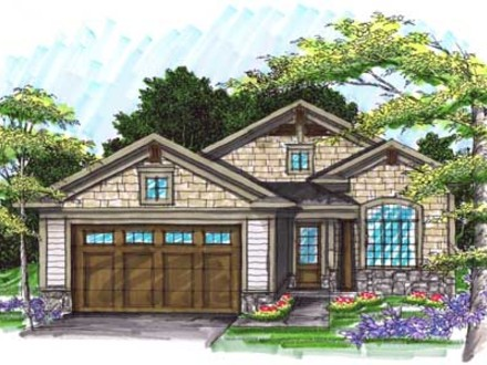 Bungalow Style House Plans 1540 Square Foot Home , 1 Story, 2 Bungalow House Plans with Porches