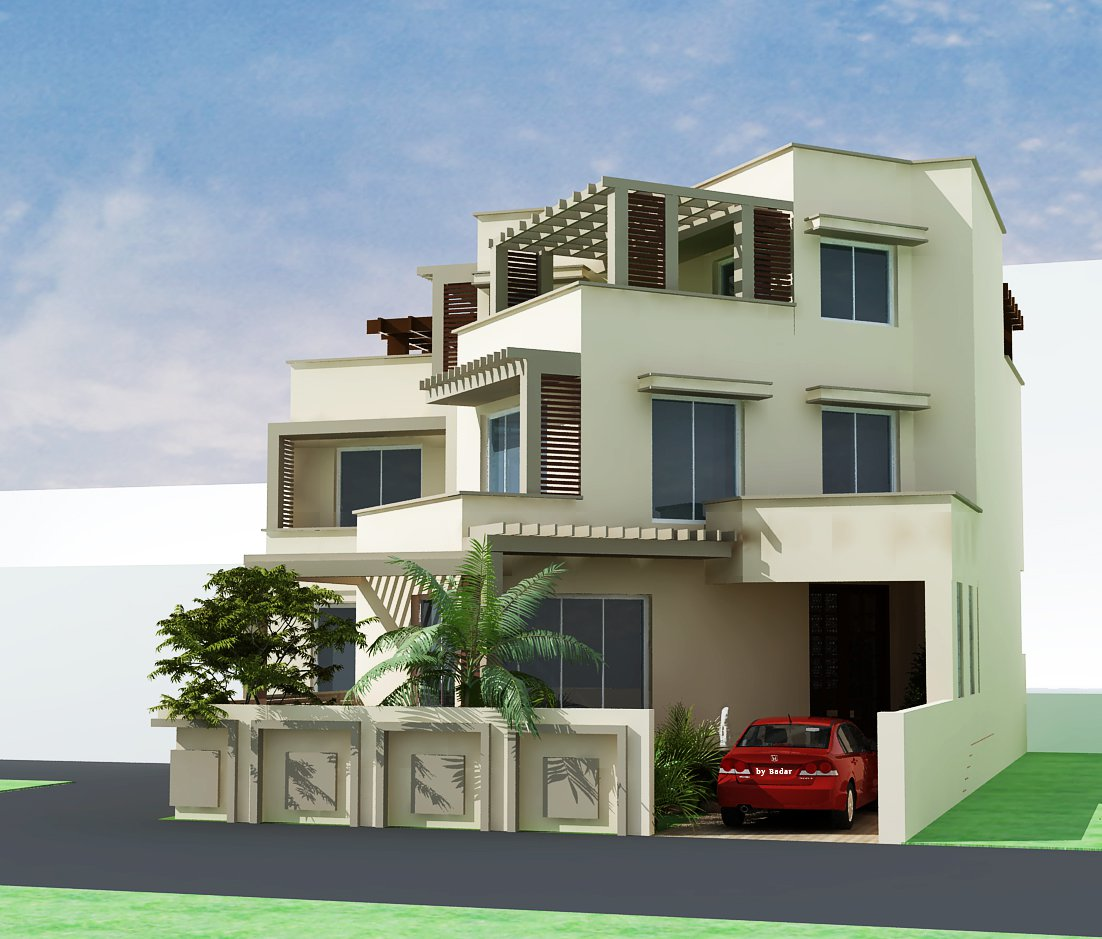 N Home Elevation Design Photo Gallery Single Floor : Front house elevation design photo