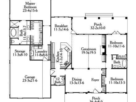 Statler Colonial Ranch Home Plan 087d 0458 House Plans And