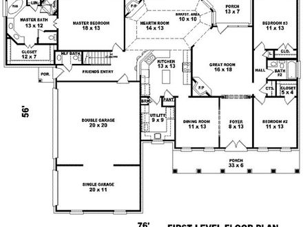 3000 Square Foot House Floor Plans House Plans 3000 Square Feet