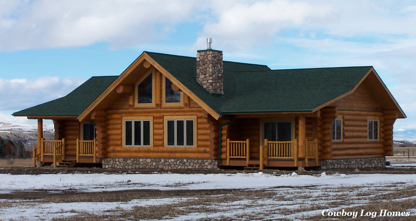 Ranch style log home plans texas ranch style homes log for Ranch style log home designs
