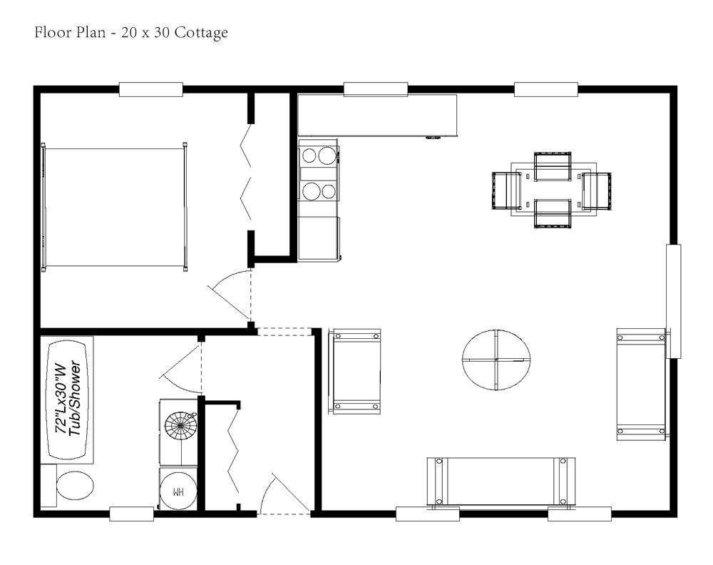 Cottage House Floor Plans Tiny Romantic Cottage House Plan