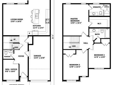Two Story House Floor Plans Inside of Two Floor Houses