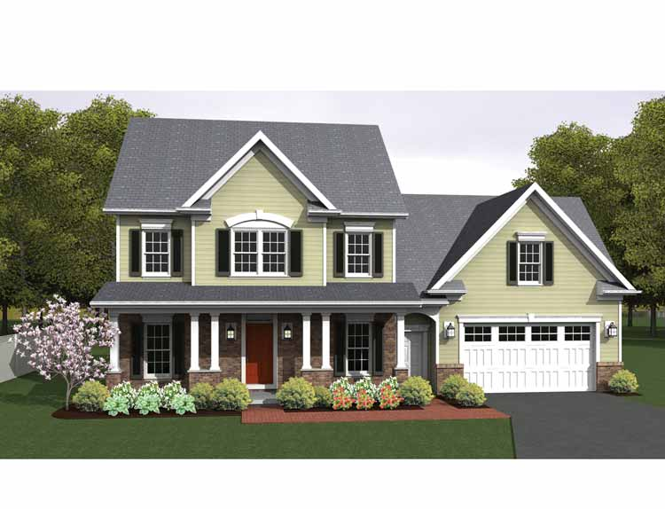 Colonial house plan new england colonial house plans for Modern colonial house plans
