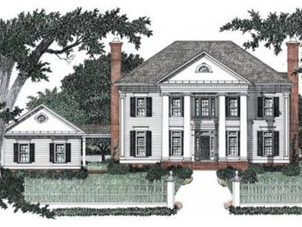 Traditional colonial house plans edwardian house plans for Large colonial house plans