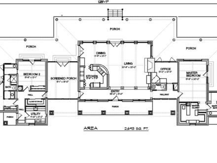 2 Bedroom Rambler Home Plans 2 Bedroom Ranch Style House Floor Plan