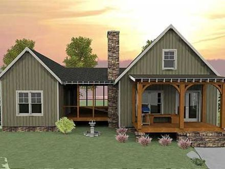 Small house plans with open floor plan small house plans for House plans with basement and porch