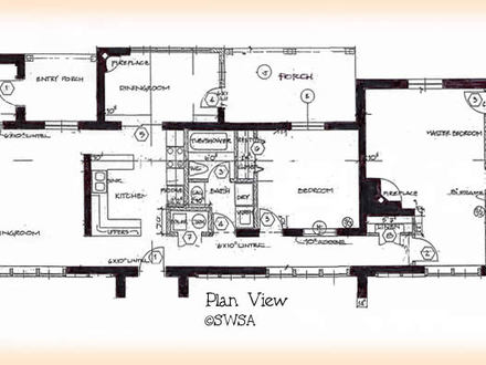 2 Bedroom Ranch House Plans 2 Bedroom House Plans