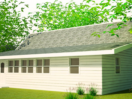 Gambrel roof dutch hip roof house plans build it yourself for Double hip roof design