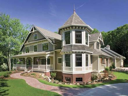 House plans from the 1920s queen anne house plans queen for Queen anne house plans with turrets