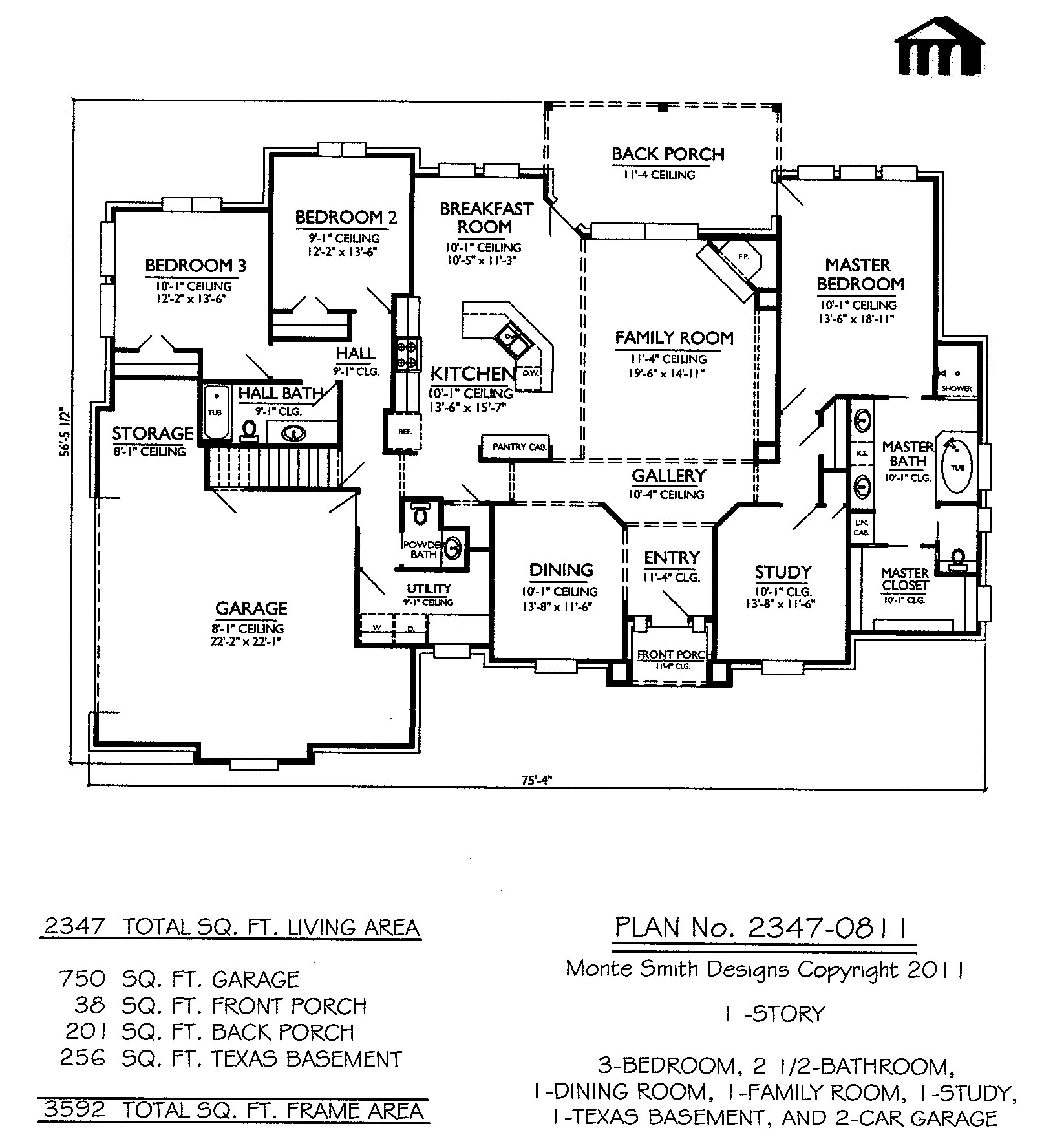 Loft bedrooms 2 story 3 bedroom house plans three story for 3 bedroom house plans with loft