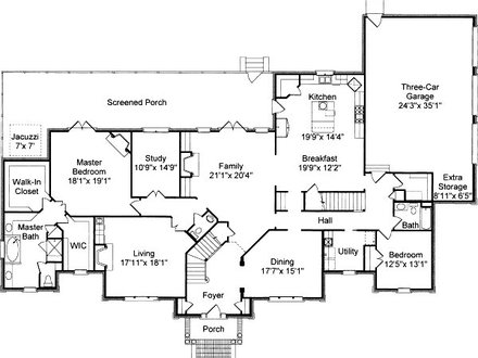 Colonial House Floor Plans Traditional Colonial House Floor Plans