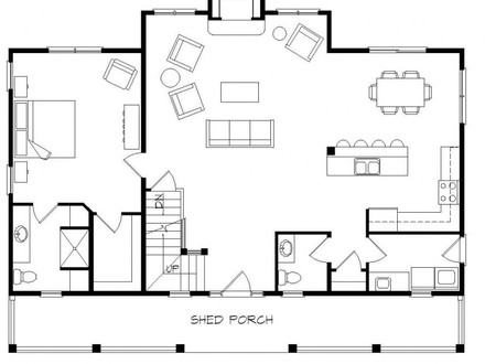 1 1 2 story cottage one story cabin floor plans one story for 1 5 story house plans with loft