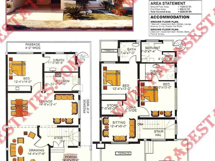 5 marla house map design 5 marla house drawing villa for House map drawing