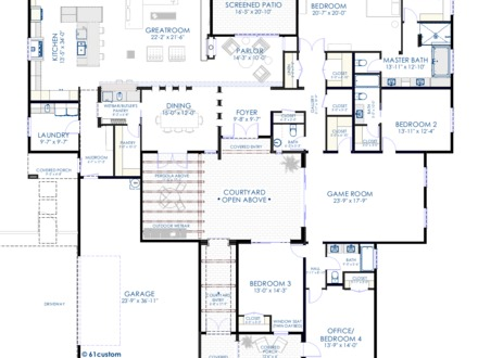 Unique modern house plans modern house floor plans for Very modern house plans