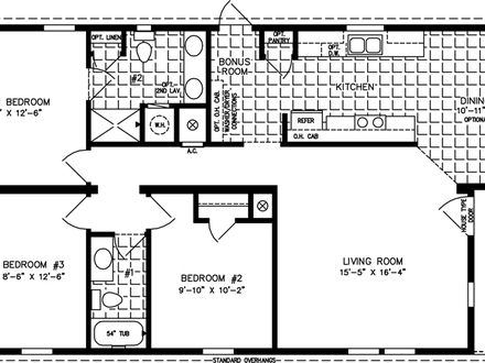 2 bedroom 1200 square foot house plans 1200 square feet 3 for Floor plans 1200 sq ft ranch