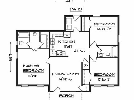 2 Bedroom House Plans Simple House Plans