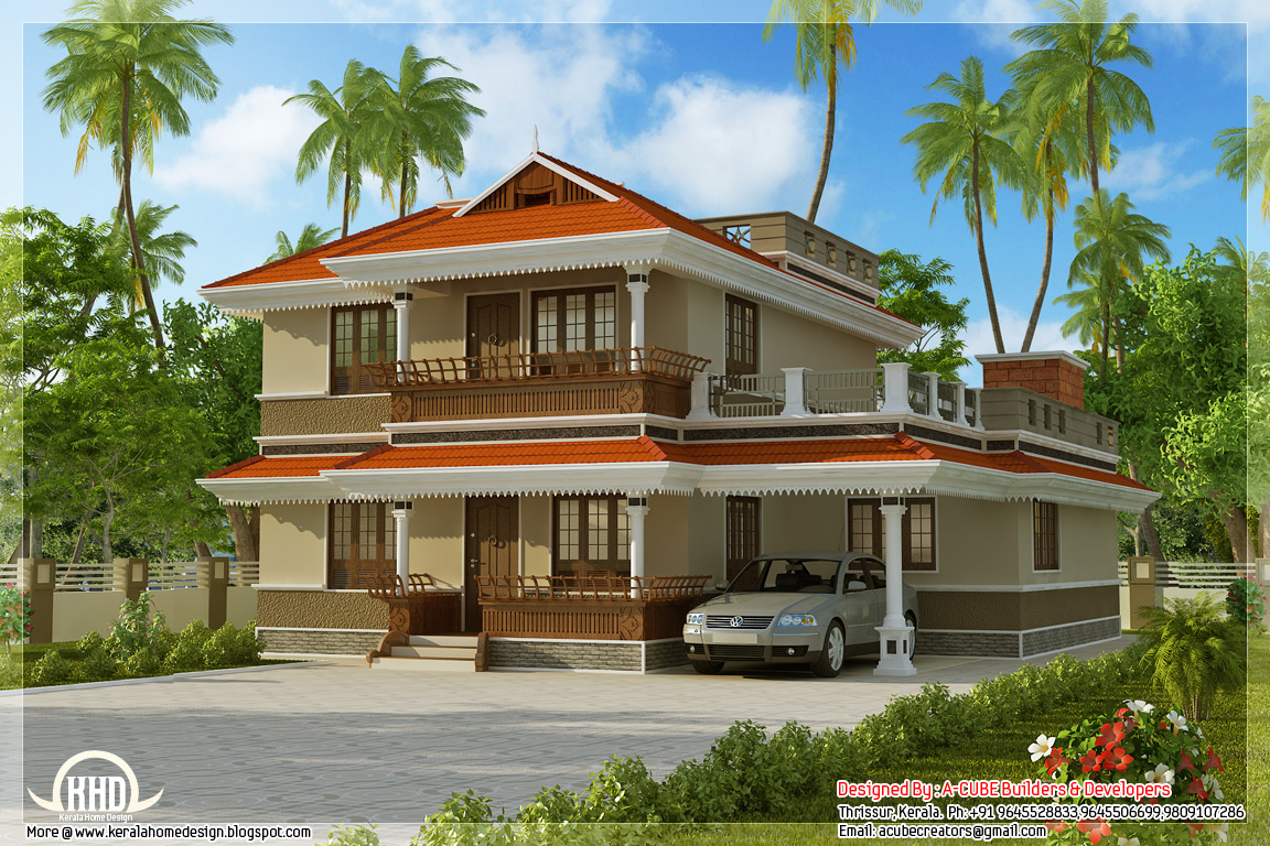 Kerala model house design kerala home design new model for Home design 4u kerala