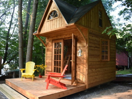 Small prefab cabin kits amish cabin kits small guest for Guest cabin kits