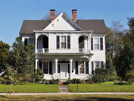 Vintage southern colonel southern colonial home historic for Colonel homes