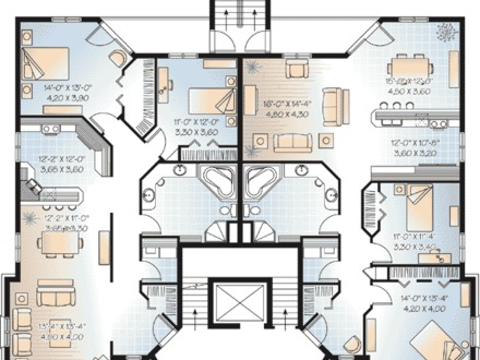 Three story house plans three story luxury house plans for 3 story apartment building design