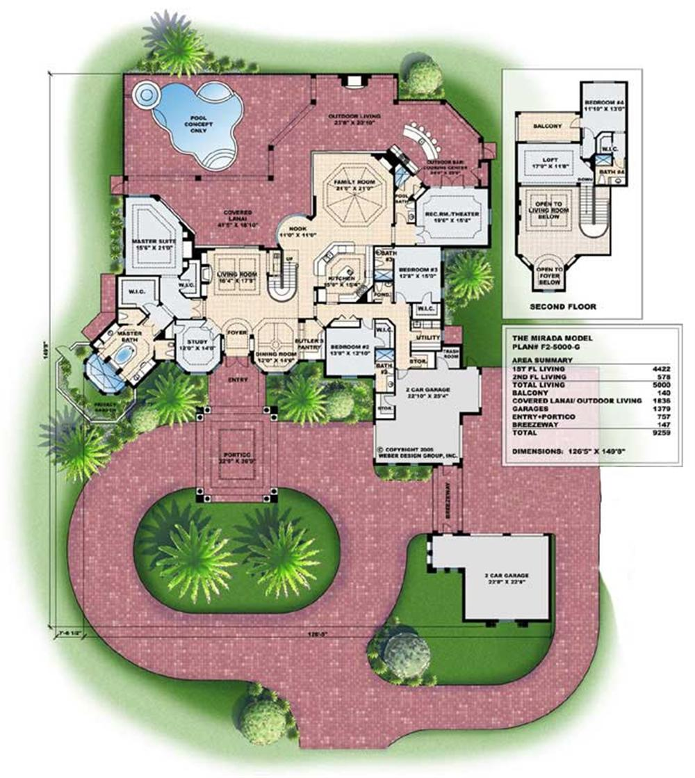 Mediterranean House Plans With Courtyards Mediterranean