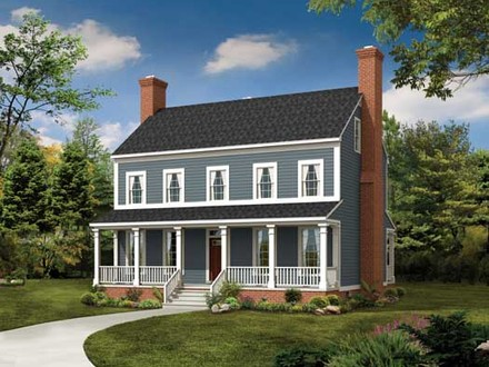 4Story Colonial 2 Story Colonial Style House Plans