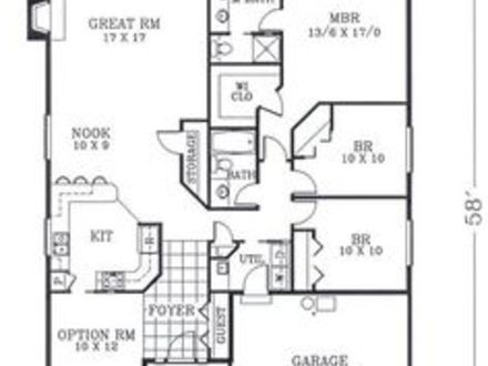 1800 sq ft ranch house plans 1800 sq ft duplex bungalow for Craftsman style open floor plans