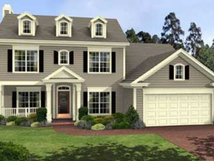 3 story farm house colonial farm house 3 story colonial for Two story ranch style homes