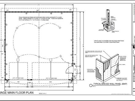 30 X 30 Garage Plans 30 X 40 Detached Garage