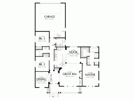 House Plans with Vaulted Great Rooms Beach House Open Floor Plan
