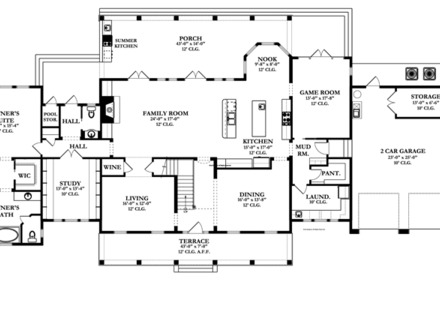 Two story farmhouse 2 story colonial floor plans colonial for Modern farmhouse open floor plans