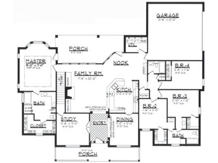 Free house plans blueprints free small house floor plans for How to print blueprints