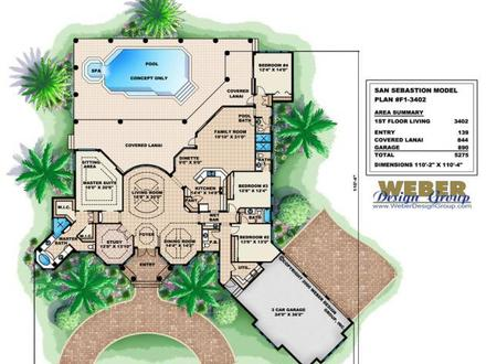 Mediterranean House Plans Mediterranean Floor Plan