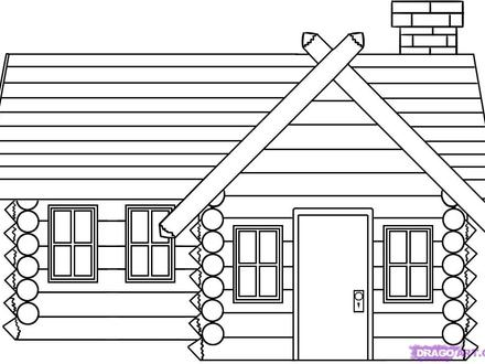 Cabin in the Woods Drawing How to Draw Log Cabin House