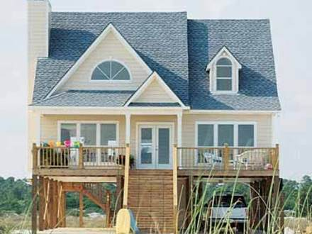 Beach House Plans for Homes On Pilings Beach Cottage House Plans